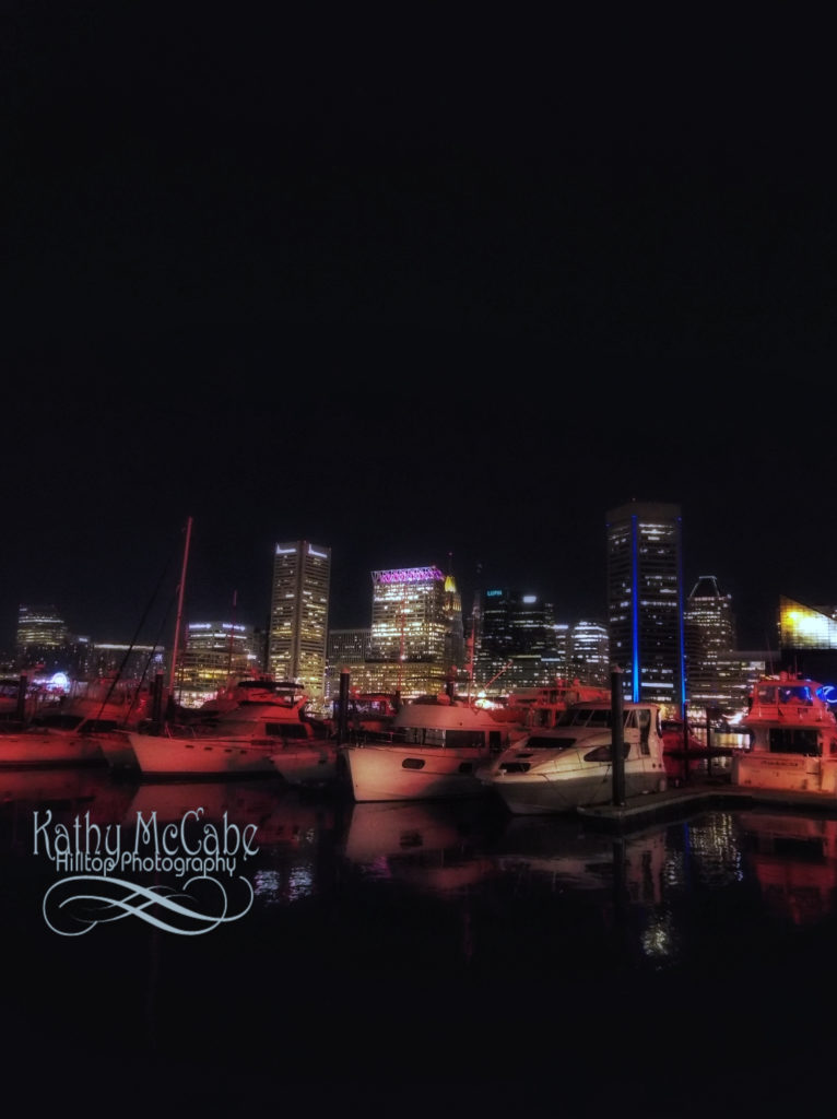 Boats in Baltimore Harbor by Kathy McCabe